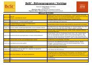 BeSt³ - Bühnenprogramm / Vorträge - VISIO-Tirol