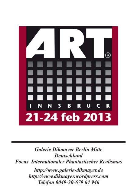 ART Innsbruck 2013 Kunstkatalog - Galerie Dikmayer Berlin