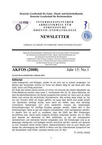 NEWSLETTER AKFOS (2008) Jahr 15: No.1 - Berlin Klinik