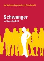"""Broschüre mit dem Titel """"Schwanger im Raum Krefeld"""