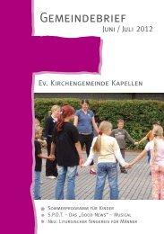 Gemeindebrief 3 2012 - Evangelische Kirchengemeinde Moers