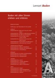 Boden mit allen Sinnen erleben und erfahren - Bayerisches ...