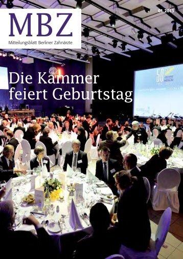 MBZ Ausgabe 01/2013 - Zahnärztekammer Berlin