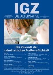 Ausgabe 1-2012 - IGZ