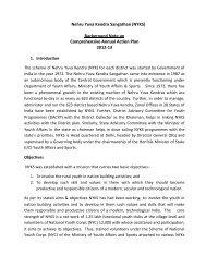 Nehru Yuva Kendra Sangathan (NYKS) Background Note on ...