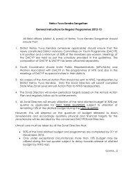 Instructions - Nehru Yuva Kendra Sangathan