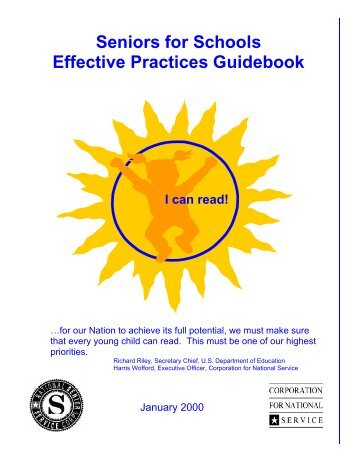 Seniors for Schools Effective Practices Guidebook - National Service ...