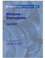 Bilvarme - Eberspächer - Kolberg Caspary Lautom AS