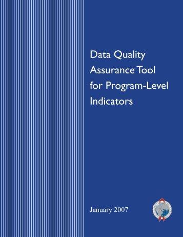Data quality assurance tool for program-level indicators