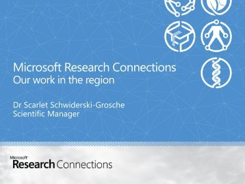 To tell you more about Microsoft Research