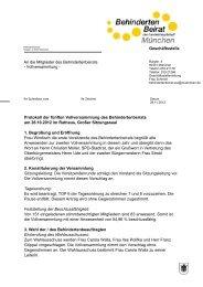 Protokoll der Vollversammlung Oktober 2012 - Behindertenbeirat ...