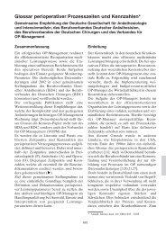 Glossar perioperativer Prozesszeiten und Kennzahlen - DGAI