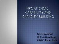 C-DAC, Pune, India - HPC Advisory Council