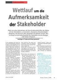 Wettlauf um die Aufmerksamkeit der Stakeholder - Absatzwirtschaft