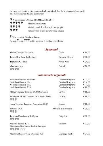 Lista Vini 2011/2012 - Malga Aloch