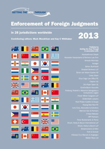 Enforcement of Foreign Judgments - Shook, Hardy & Bacon LLP