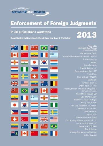 Enforcement of Foreign Judgments - Walder Wyss Ltd.