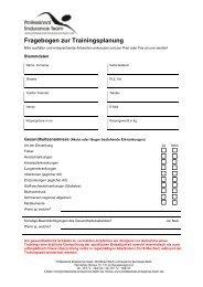 Sportanamnesebogen - Professional Endurance Team