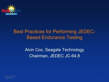 Best Practices for Performing JEDEC-Based Endurance Testing