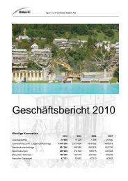 Bilanz per 31. Dezember 2010 - Sport & Freizeitpark Gitterli Liestal