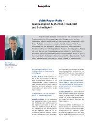 Voith Paper Rolls – Zuverlässigkeit, Sicherheit, Flexibilität und ...