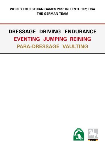 DRESSAGE DRIvING ENDURANCE EvENTING JUMpING REINING ...