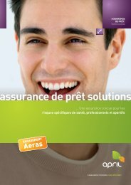 Assurance de prêt solutions, une assurance APRIL