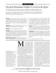 Elevated Monoamine Oxidase A Levels in the Brain - Medizin ...