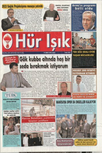 AK Parti Manisa Milletvekili Dr. Muzaffer Yurttaş yap tığı açıkiamada