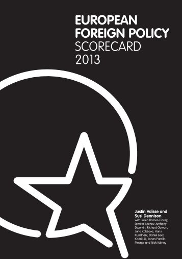 EUROPEAN FOREIGN POLICY SCORECARD 2013