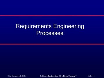 Requirements Engineering Processes - COW :: Ceng On the Web