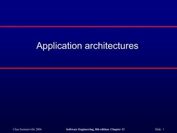 Application architectures - COW :: Ceng On the Web