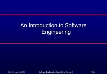 An Introduction to Software Engineering - COW :: Ceng On the Web