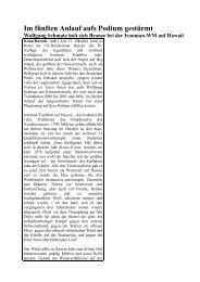 Zeitungsartikel über Wolfis Erfolg auf Hawaii - Professional ...