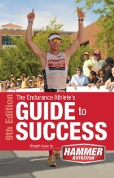 The Endurance Athlete's Guide to Success - Hammer Nutrition
