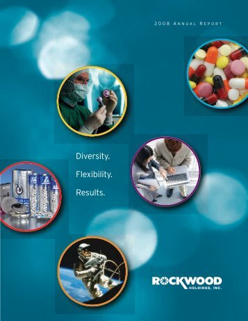 Diversity. Flexibility. Results. - Rockwood Holdings, Inc