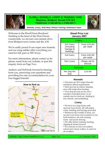 Welcome to the Elwell Farm Brochure! Nestling in the heart of the ...