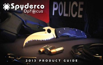 OpFocus Product Guide - Spyderco