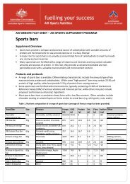 Sports bars - Australian Sports Commission