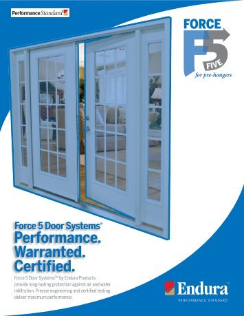 Force 5 PreHanger Brochure - Endura Products  sc 1 st  Yumpu & Force 5 Door Systems Warranty Inspection Guide ... - Endura Products