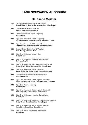 Deutsche Meister - TSV 1847 Schwaben Augsburg