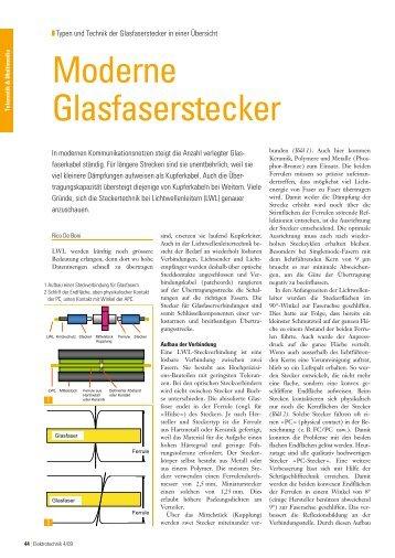 Moderne Glasfaserstecker