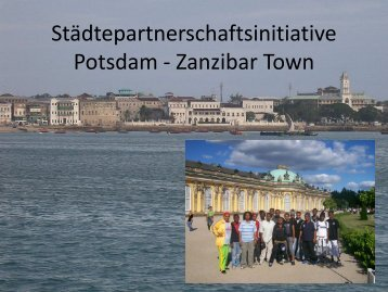Sansibar Stadt / Zanzibar Town - cities for mdgs