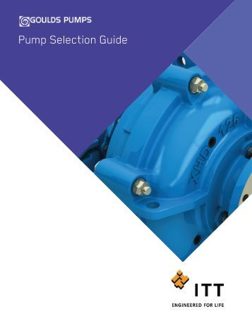 Pump Selection Guide - Goulds Pumps