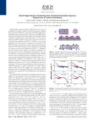 Small-Angle Neutron Scattering from Surfactant-Assisted Aqueous ...