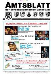 Highlights 2009 in der Stadthalle Landstuhl Gutscheine der ...