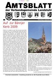 Auf zur Bännjer Kerb 2009 - Verbandsgemeinde Landstuhl