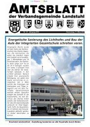 Amtliche Bekanntmachungen - Verbandsgemeinde Landstuhl