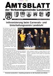 Inthronisierung beim Carnevals- und Unterhaltungsverein Landstuhl