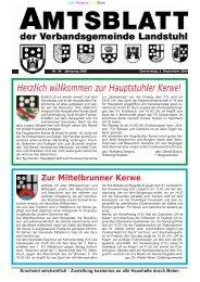 Herzlich willkommen zur Hauptstuhler Kerwe! - Verbandsgemeinde ...